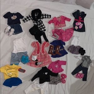 American girl doll outfit clothing set with shoes